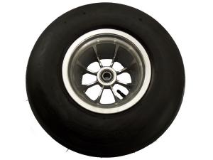 широкое колесо 18х8,50-8 на  широком хромированном диске